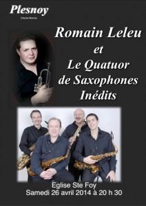 Le Quatour Inédits et Romain Leleu