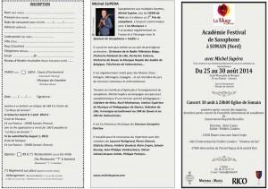 """L' """"Académie Festival"""" de Saxophone à Somain"""