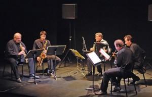 "Enregistrement du Quatuor ""Inédits"" et de Marcel Azzola"