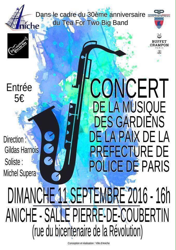 Concert Soliste avec la Musique des Gardiens de la Paix de Paris