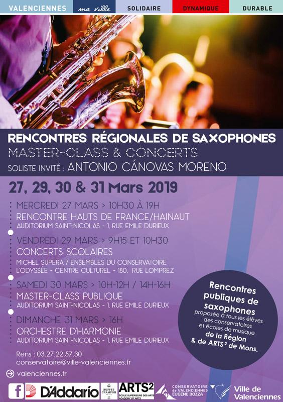 Rencontres régionales de saxophones de Valenciennes